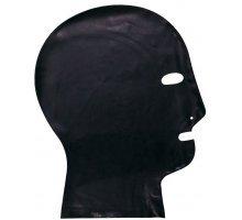 Латексный шлем-маска с прорезями для глаз и дыхания