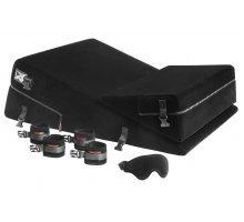 Чёрная подушка для секса из двух частей с креплениями Wedge/Ramp Combo Conversion Kit