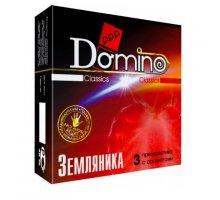 Ароматизированные презервативы Domino Земляника - 3 шт