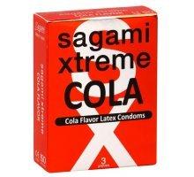 Ароматизированные презервативы Sagami Xtreme COLA - 3 шт
