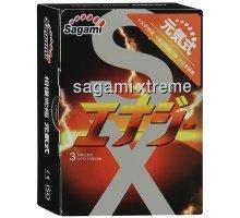 Презервативы Sagami Xtreme ENERGY с ароматом энергетика - 3 шт