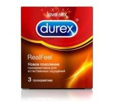 Презервативы Durex RealFeel для естественных ощущений - 3 шт