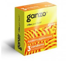 Ароматизированные презервативы Ganzo Juice - 3 шт