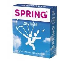 Ультратонкие презервативы SPRING SKY LIGHT - 3 шт