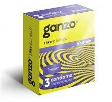 Тонкие презервативы для большей чувствительности Ganzo Sence - 3 шт