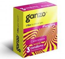 Презервативы с анестетиком для продления удовольствия Ganzo Long Love - 3 шт