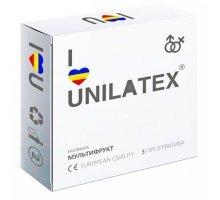 Разноцветные ароматизированные презервативы Unilatex Multifruits - 3 шт