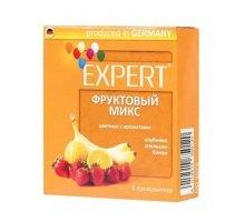 Цветные презервативы Expert Фруктовый микс - 3 шт