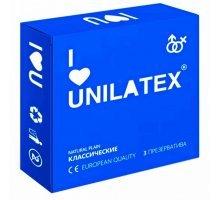 Классические презервативы Unilatex Natural Plain - 3 шт