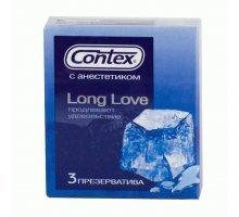 Презервативы с продлевающей смазкой Contex Long Love - 3 шт