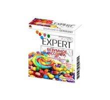 Цветные ароматизированные презервативы Expert Безумное ассорти - 3 шт