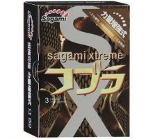 Суженные к основанию презервативы Sagami Xtreme COBRA - 3 шт