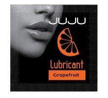 Пробник съедобного лубриканта JUJU с ароматом грейпфрута - 3 мл