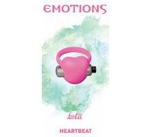 Розовое эрекционное виброкольцо Emotions Heartbeat Light pink