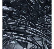 Черная виниловая ткань-простынь для эротических игр 180 см х 220 см