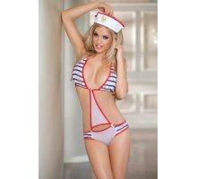 Игровой костюм морячки: боди и головной убор