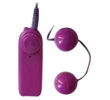 Вагинальные шарики с вибрацией фиолетового цвета